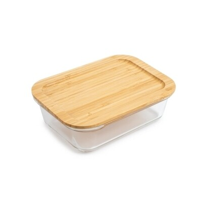 Core Kitchen | Glass Food Storage with Bamboo Lid (35oz)
