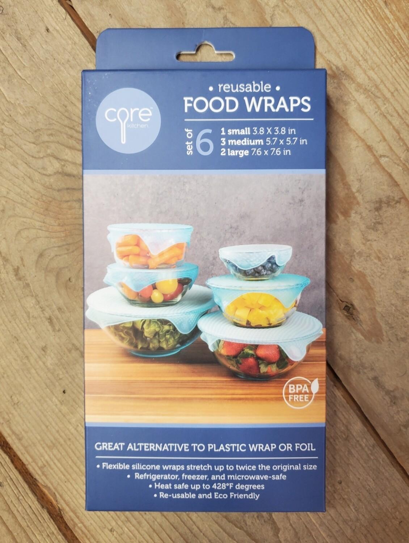 Core Kitchen | Reusable Food Wraps (Set of 6)