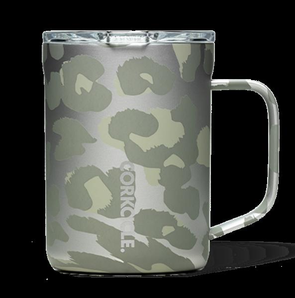 Corkcicle Coffee Mug | 16oz Snow Leopard