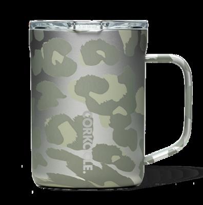 Corkcicle Coffee Mug   16oz Snow Leopard