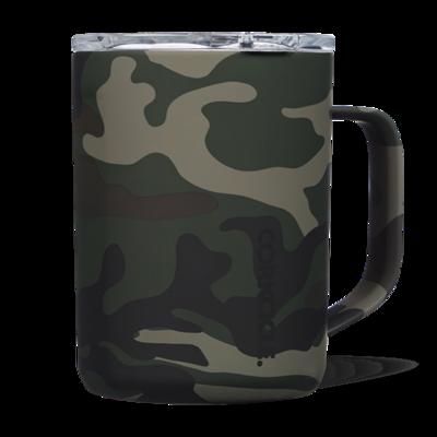 Corkcicle Coffee Mug   16oz Woodland Camo