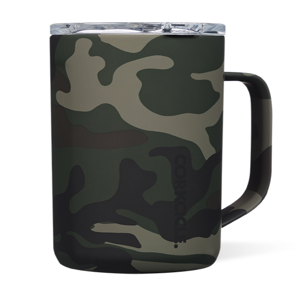Corkcicle Coffee Mug | 16oz Woodland Camo
