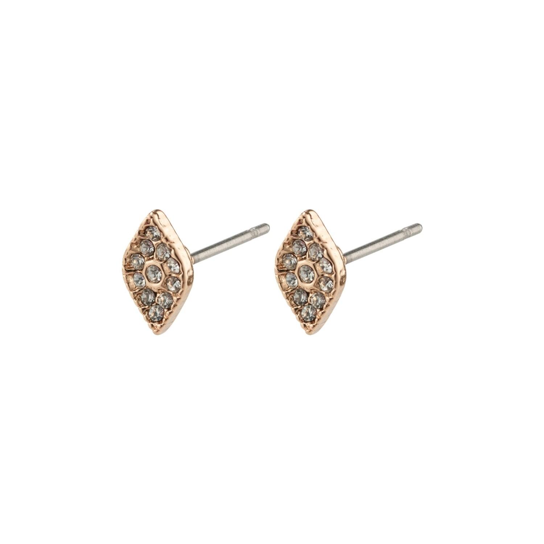 Pilgrim Rose Gold Sincerity Crystal Earrings