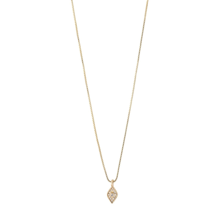 Pilgrim Gold Sincerity Crystal Necklace