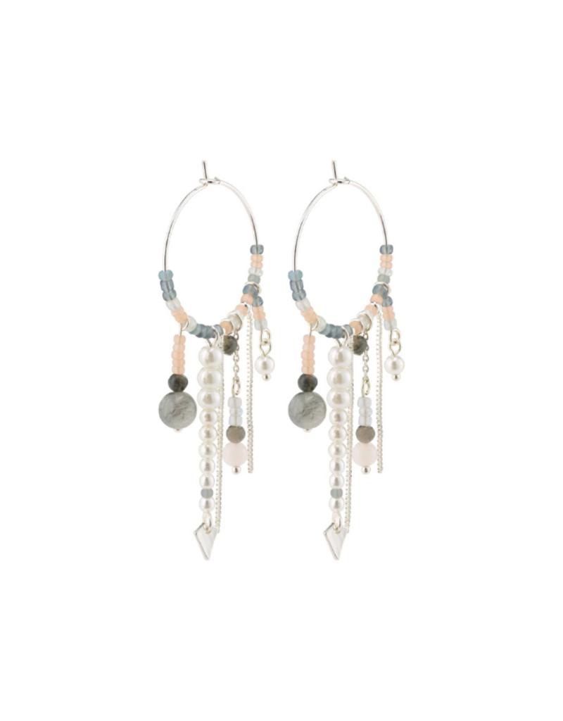 Pilgrim Silver Nomad Beaded Earrings