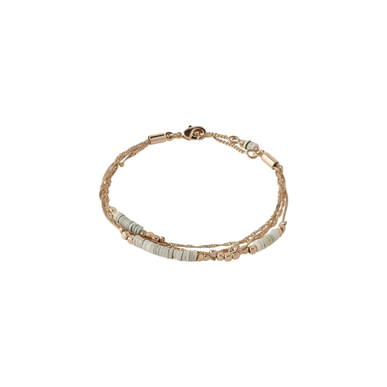 Pilgrim Rose Gold Sincerity Grey Beaded Bracelet