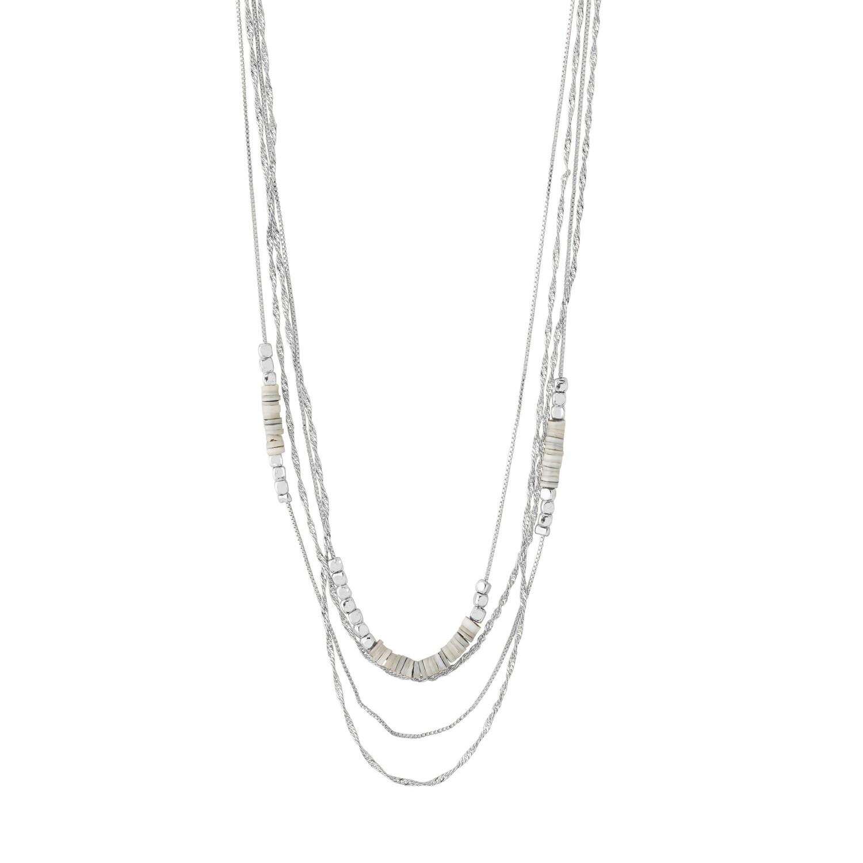Pilgrim Silver Sincerity Grey Beaded Necklace