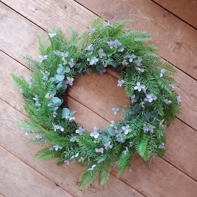 Purple Fern Wreath