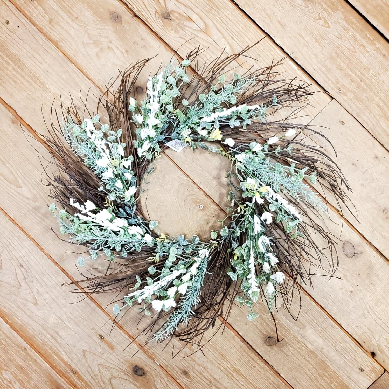 Green/White Wreath