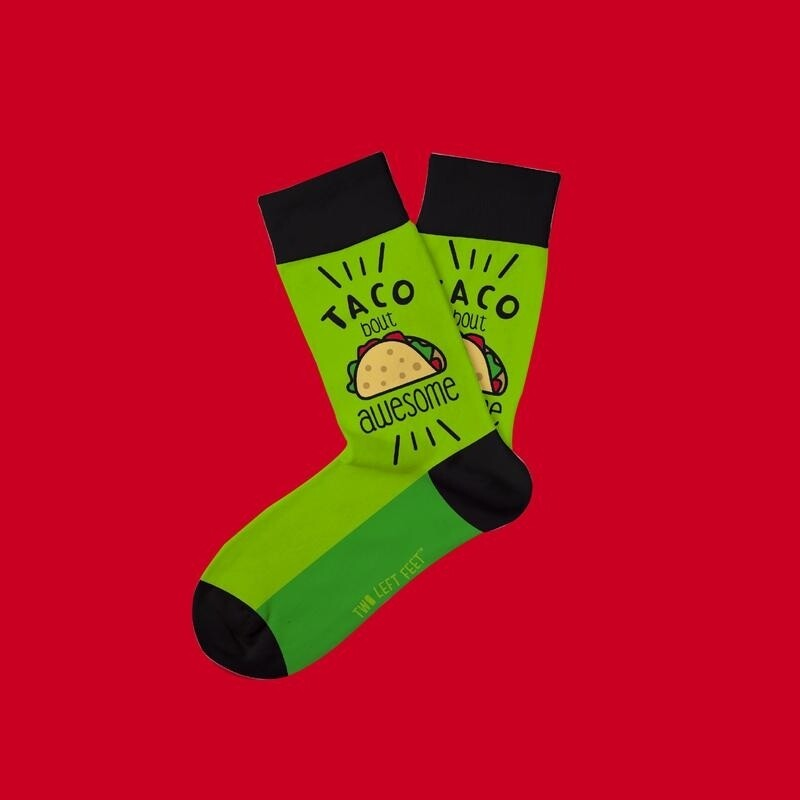 Two Left Feet - Everyday Socks (Big Feet)   Tacobout Awesome