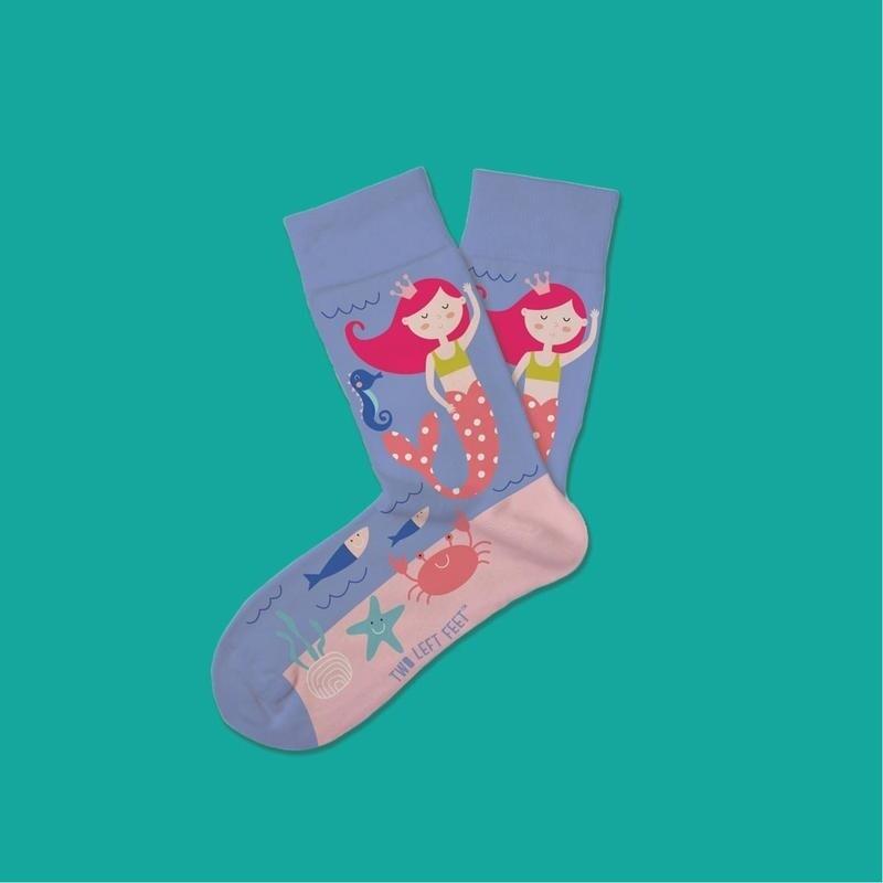 Two Left Feet - Everyday Socks (Small Feet) | Princess and the Sea