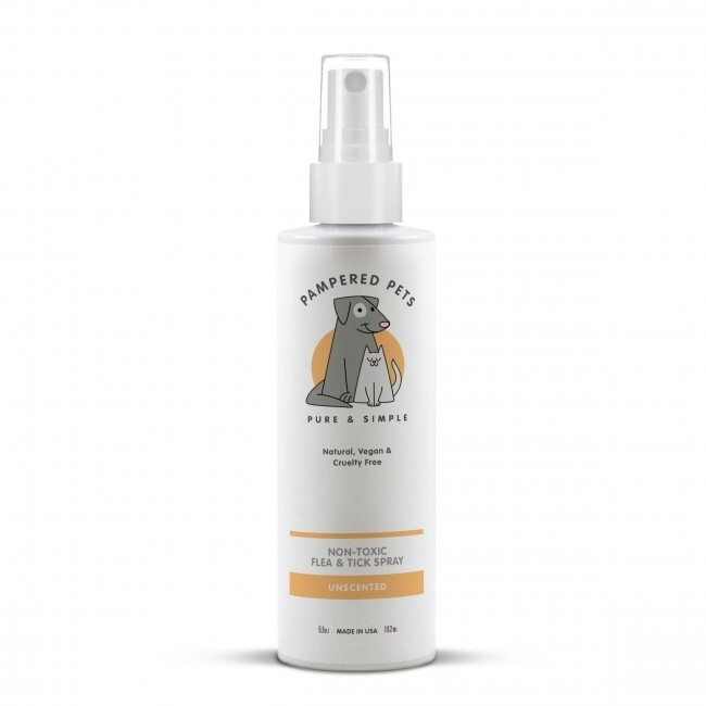 Pampered Pets   Non-toxic Unscented Flea and Tick Spray