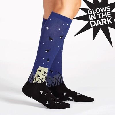 Sock It To Me - Women's STRETCH-IT Wide Calf Knee-high Socks | Nightlight