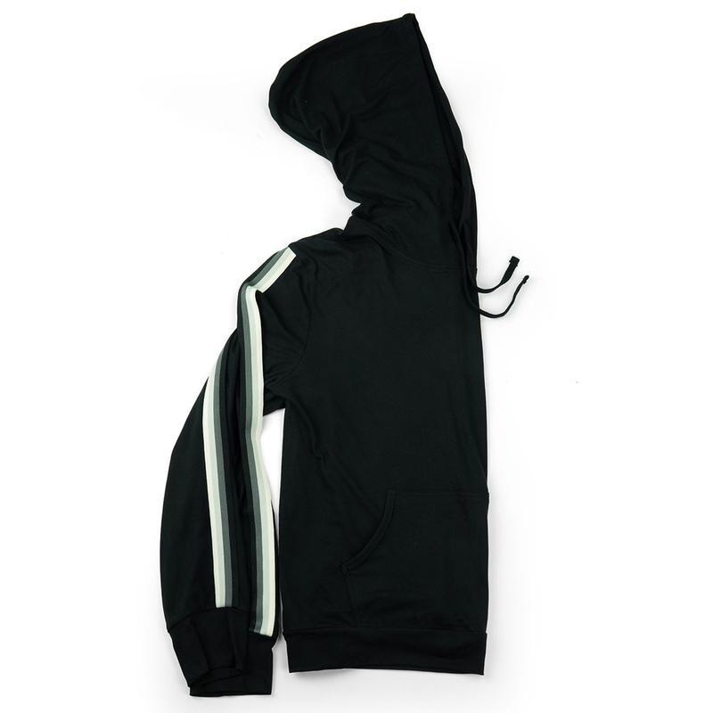 Fitkicks 76' Varsity Hoodie - Black
