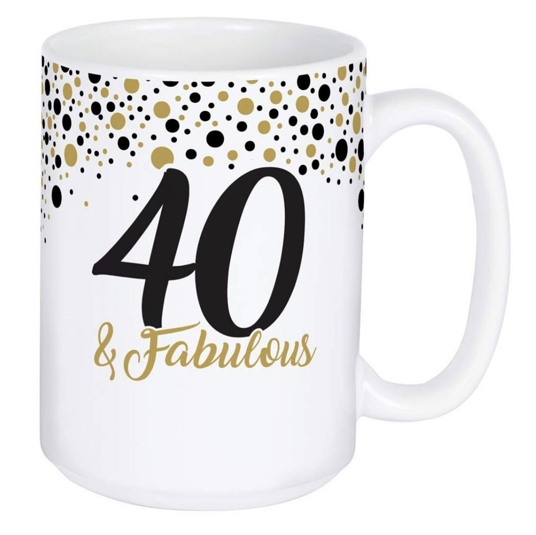 Carson Mug   40 & Fabulous