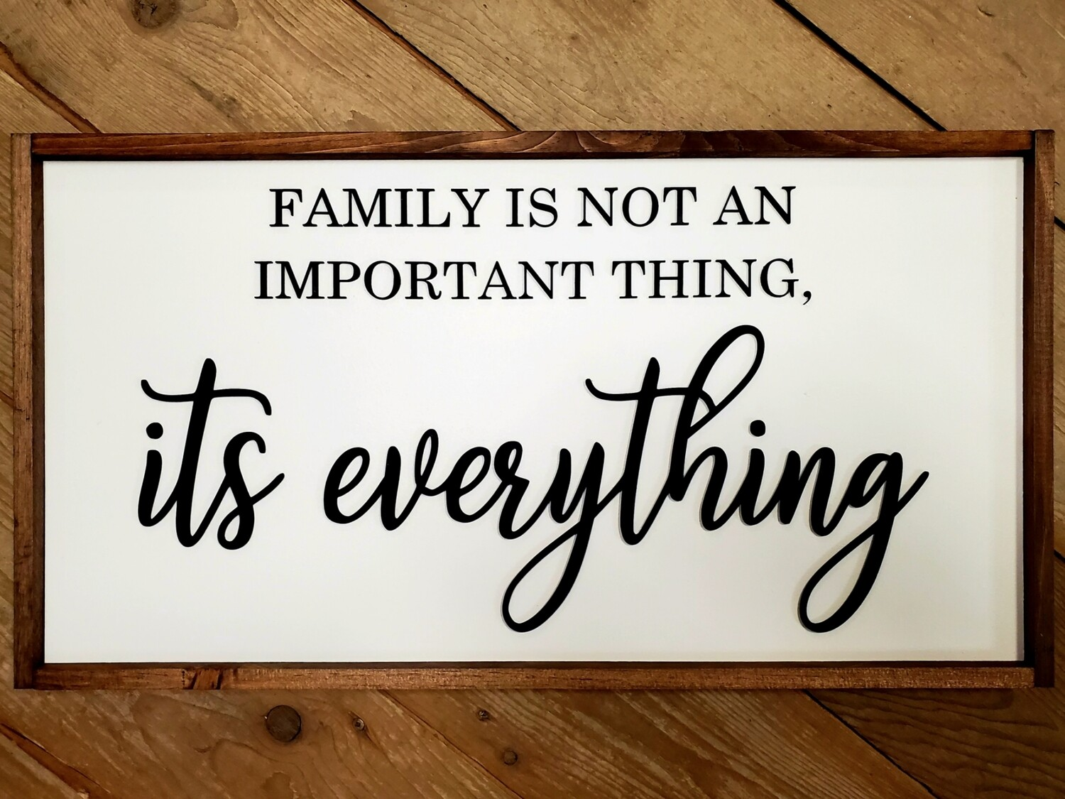 Family... It's Everything Sign