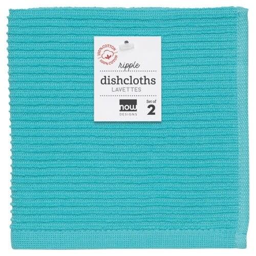 Now Designs Ripple Dishcloths (Set of 2) | Bali Blue