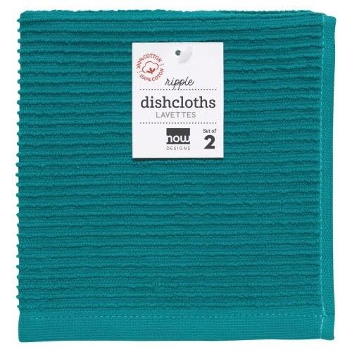 Now Designs Ripple Dishcloths (Set of 2) | Peacock