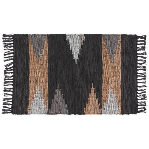 Now Designs Leather Chindi Rug | Mercer