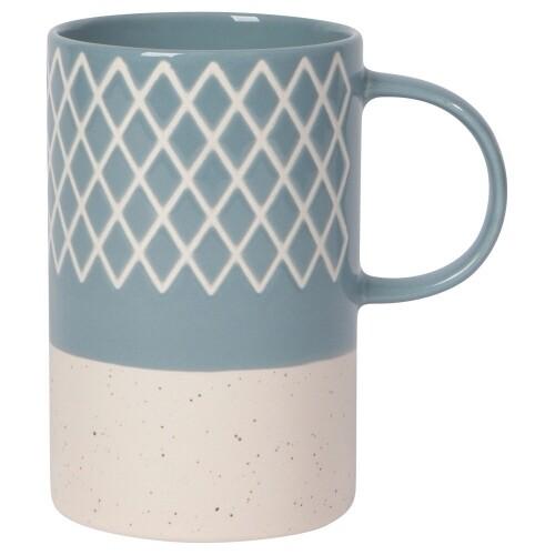 Danica Etch Mug   Slate Blue