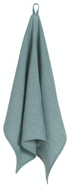 Now Designs Heirloom Linen Tea Towel   Lagoon