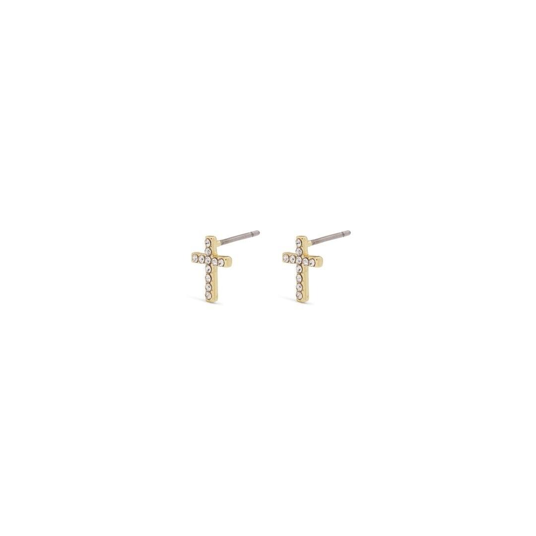 Pilgrim Gold Clara Crystal Earrings