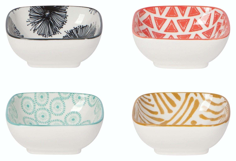 Now Designs Square Pinch Bowls (Set of 4)   Mix & Prep