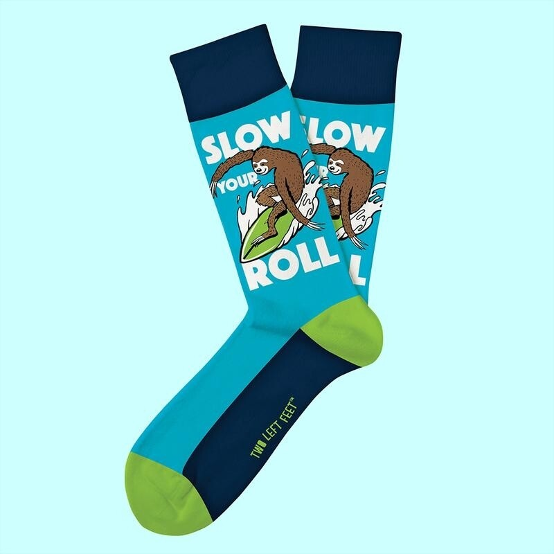 Two Left Feet - Everyday Socks | Slow Your Roll (Sloth)