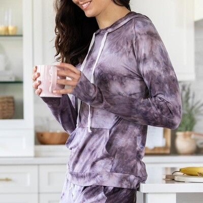 Hello Mello Dyes The Limit Hoodie - Purple