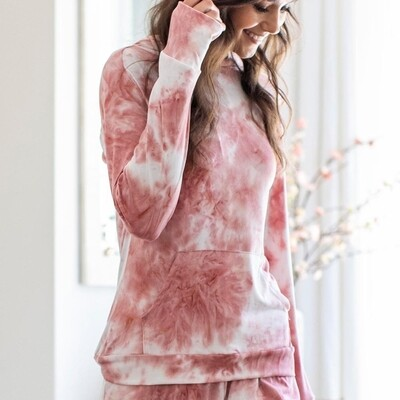 Hello Mello Dyes The Limit Hoodie - Blush