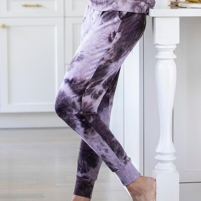 Hello Mello Dyes The Limit Jogger Pants - Purple