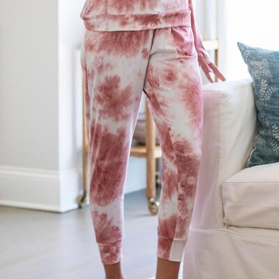 Hello Mello Dyes The Limit Jogger Pants - Blush