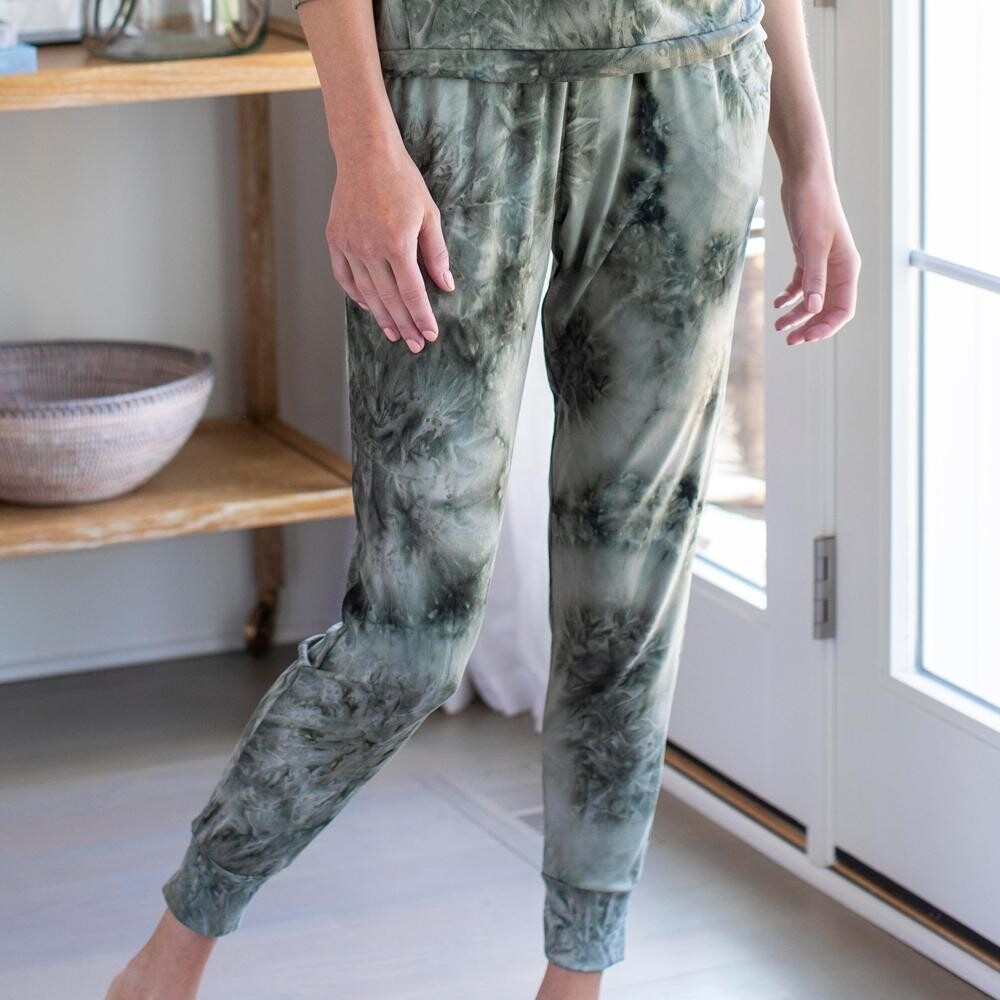 Hello Mello Dyes The Limit Jogger Pants - Green