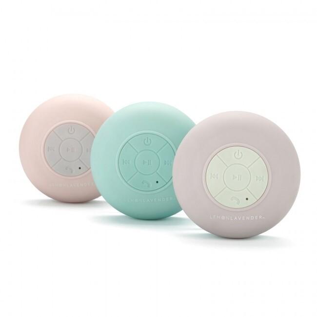 Lemon Lavender Splash Proof Bluetooth Speaker