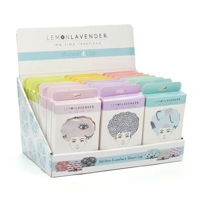 Lemon Lavender Shower Caps