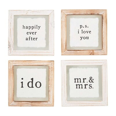MudPie   Wedding Coaster Set