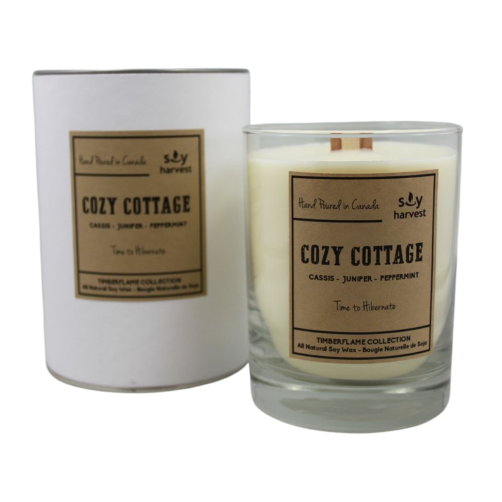 Soy Harvest Timberflame Candle - Cozy Cottage