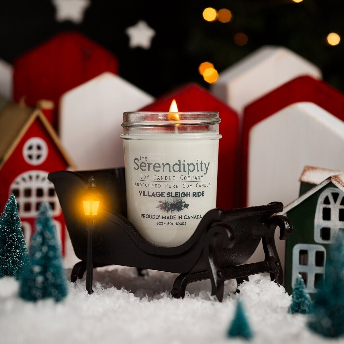 Serendipity 8 oz Soy Candle Jar   Victorian Christmas