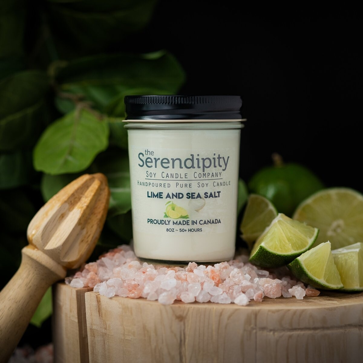 Serendipity 8 oz Soy Candle Jar | Lime & Sea Salt
