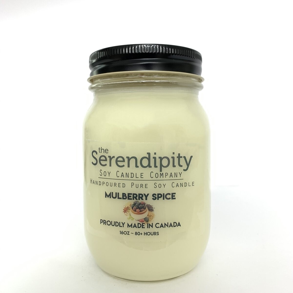 Serendipity 16 oz Soy Candle Jar   Mulberry Spice
