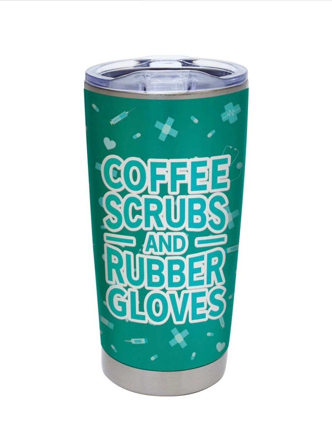 Carson 20oz Stainless Steel Tumbler - Coffee, Scrubs & Rubber Gloves