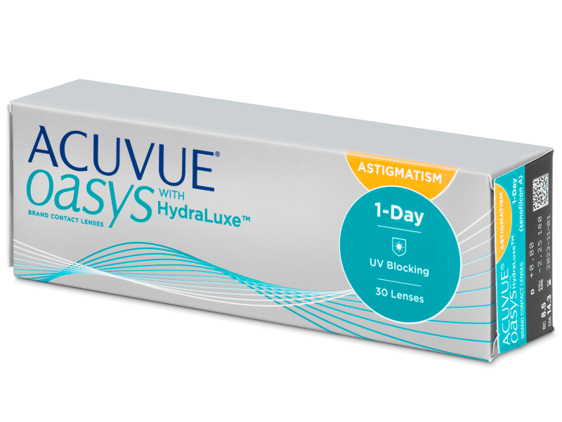 ACUVUE OASYS® 1-Day with HydraLuxe™ for ASTIGMATISM 30 LENS BOX