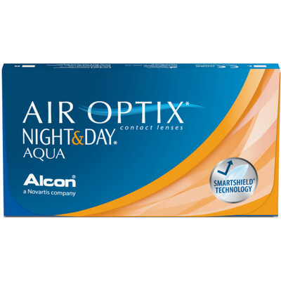 AIR OPTIX® NIGHT & DAY® AQUA 6 LENS BOX