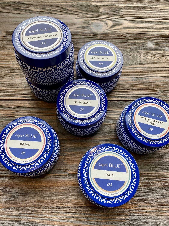Capri Blue Printed Travel Tin