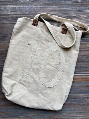 #10 Cotton Canvas Tote