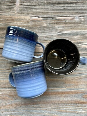 Navy Meridian Reactive Glaze Mug