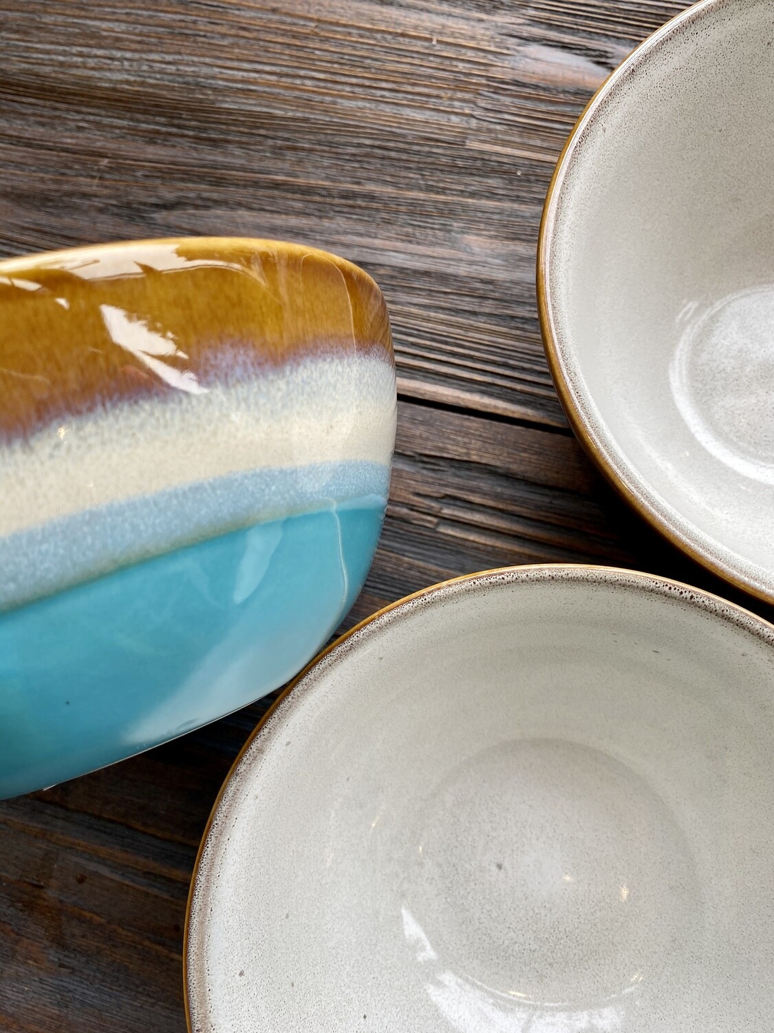 Blue Horizon Reactive Glaze Bowl
