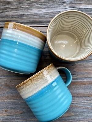 Blue Horizon Reactive Glaze Mug