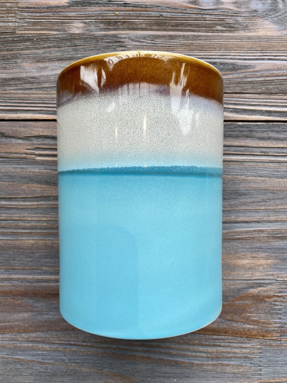 Blue Horizon Reactive Glaze Crock