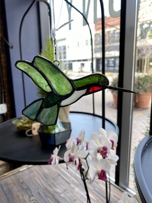 Made Local Stained Glass Hummingbird